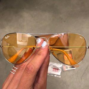 ray ban aviator evolve orange